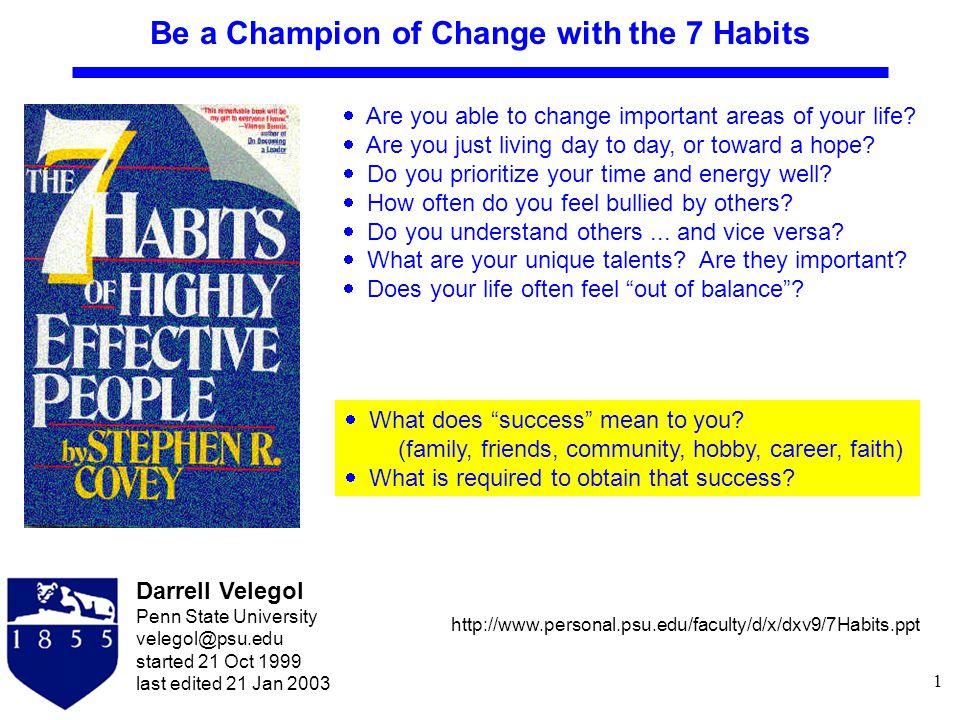 12 The 7 Habits...
