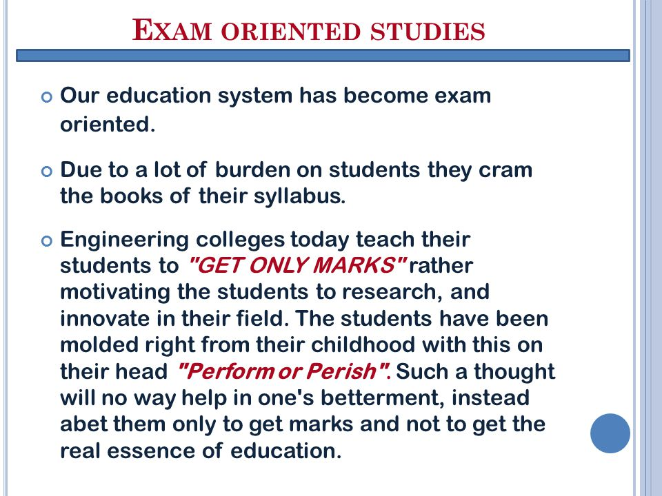 WHY CRAMMING?????.Are we studying to become parrots or wise men.