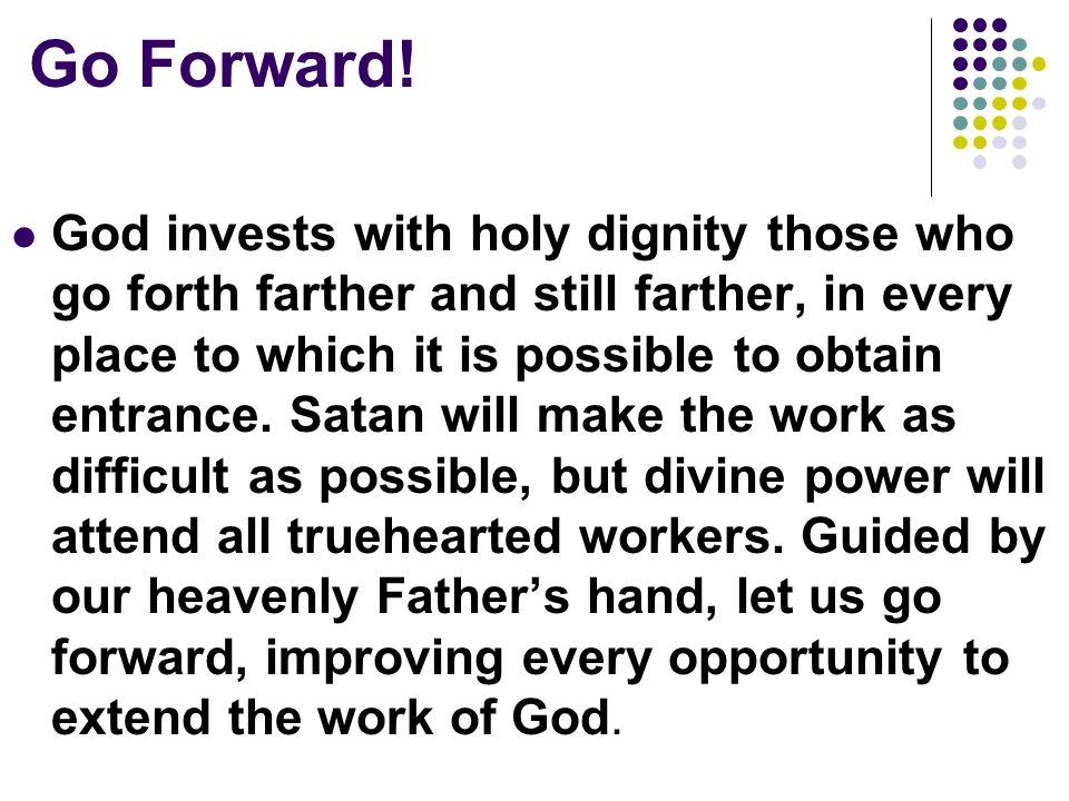 Go Forward.