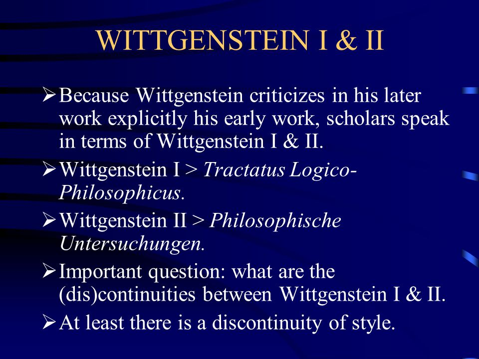 DIFFICULTIES  There are different reasons why a reader will have to deal with some difficulties when her or she wants to understand the book: 1.Although Wittgenstein states that the decimal expansions give expression to the logical weight of the sentences, he is not consistent.
