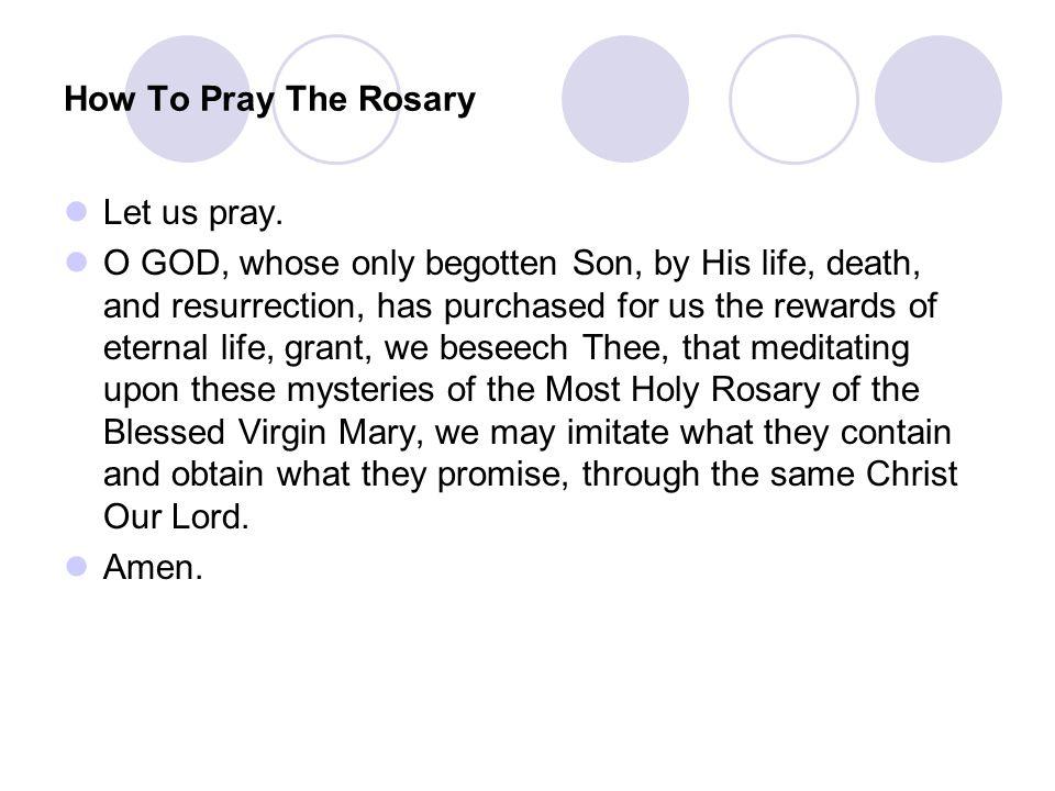 Let us pray.