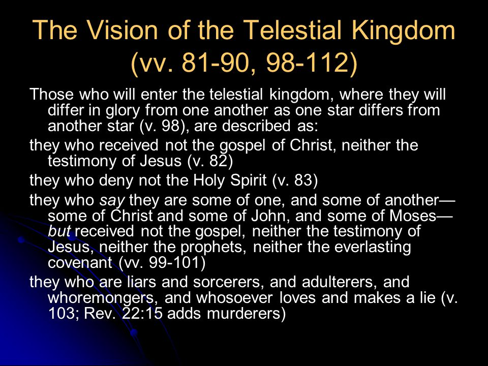 The Vision of the Telestial Kingdom (vv.