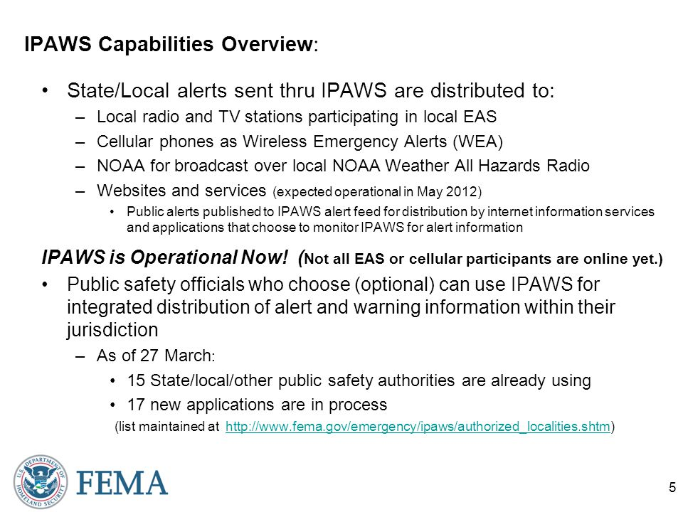 IPAWS… So what.