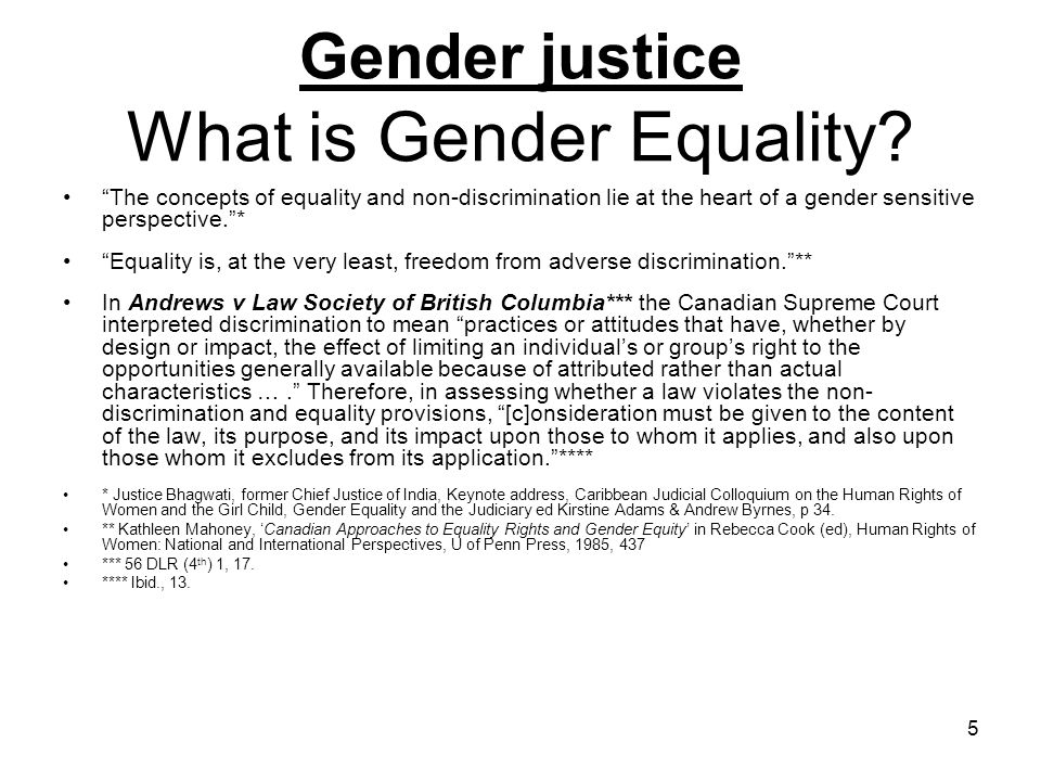 6 Gender justice What is the Rule of Law.