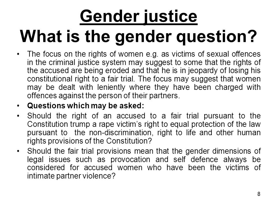 19 Gender justice Asking questions pertinent to the woman question in the Caribbean