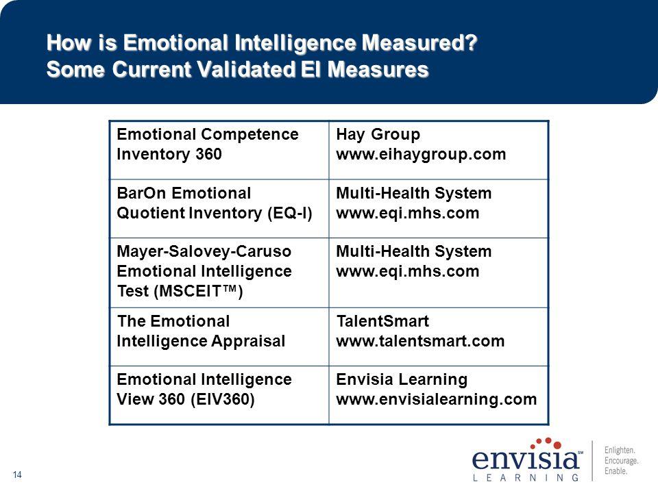 14 How is Emotional Intelligence Measured.