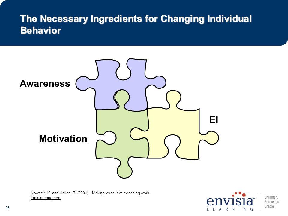 25 Awareness Motivation EI Nowack, K. and Heller, B.