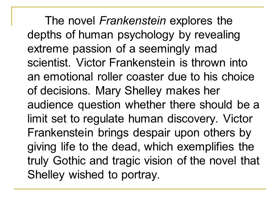 anxiety and victor frankenstein essay