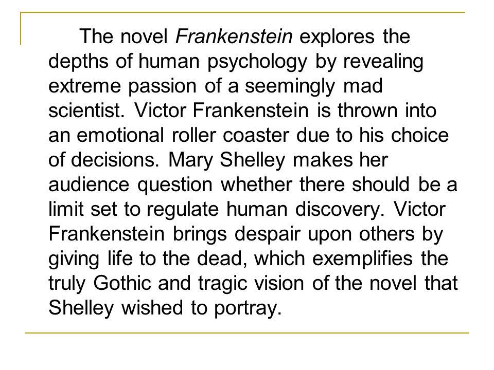 analytical essay for frankenstein