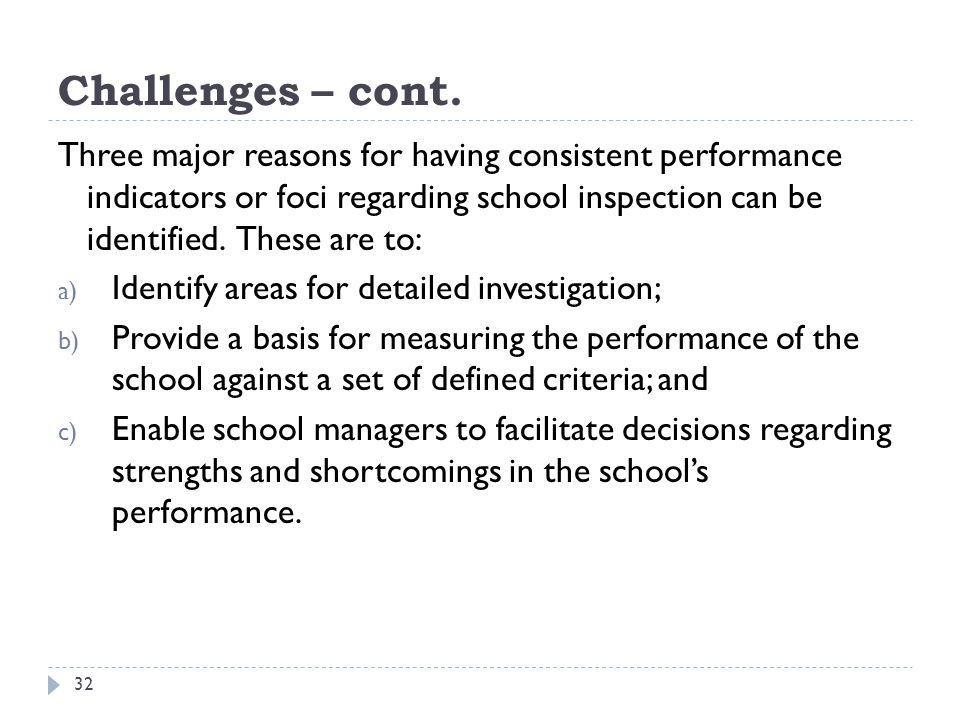 Challenges – cont.