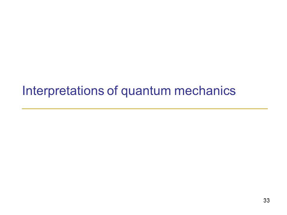 33 Interpretations of quantum mechanics ______________________________________________