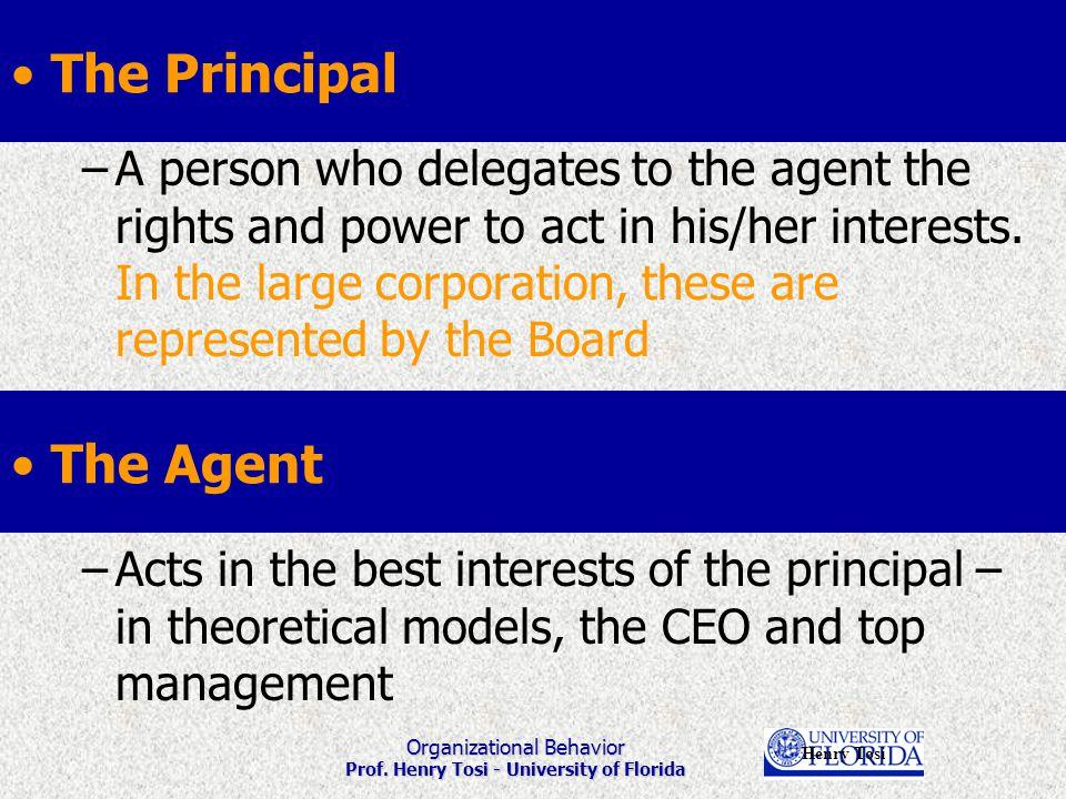 Organizational Behavior Prof.Henry Tosi - University of Florida Some attribution tendencies.......