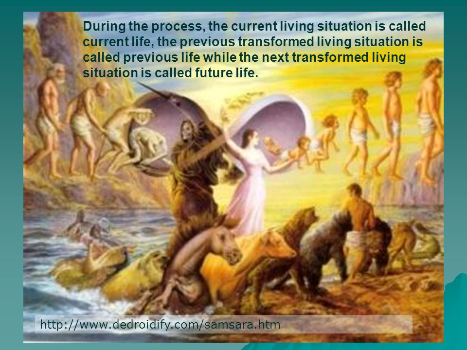 During the process, the current living situation is called current life, the previous transformed living situation is called previous life while the next transformed living situation is called future life.