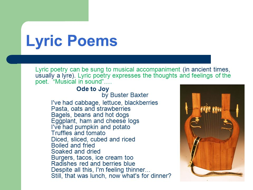 THEME in Narrative Poetry Poems, like short stories, have themes, or central ideas.