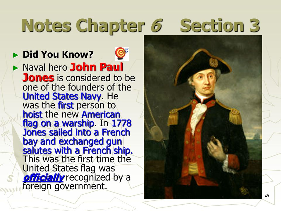 49 Notes Chapter 6 Section 3 ► Did You Know.