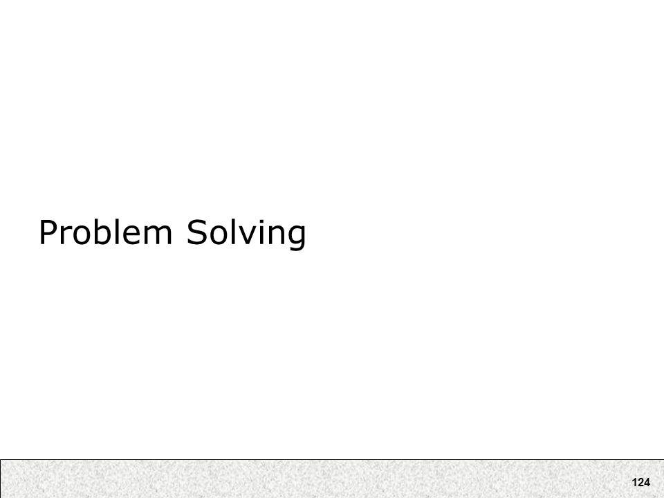 124 Problem Solving