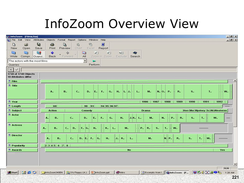 221 InfoZoom Overview View