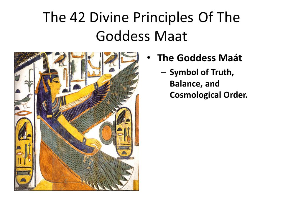 The 42 Divine Principles Of The Goddess Maat The Goddess Maát – Symbol of Truth, Balance, and Cosmological Order.