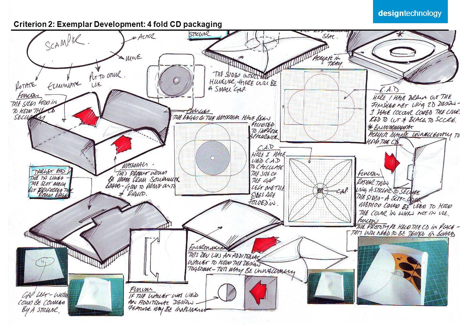 Criterion 2: Exemplar Development: 4 fold CD packaging designtechnology