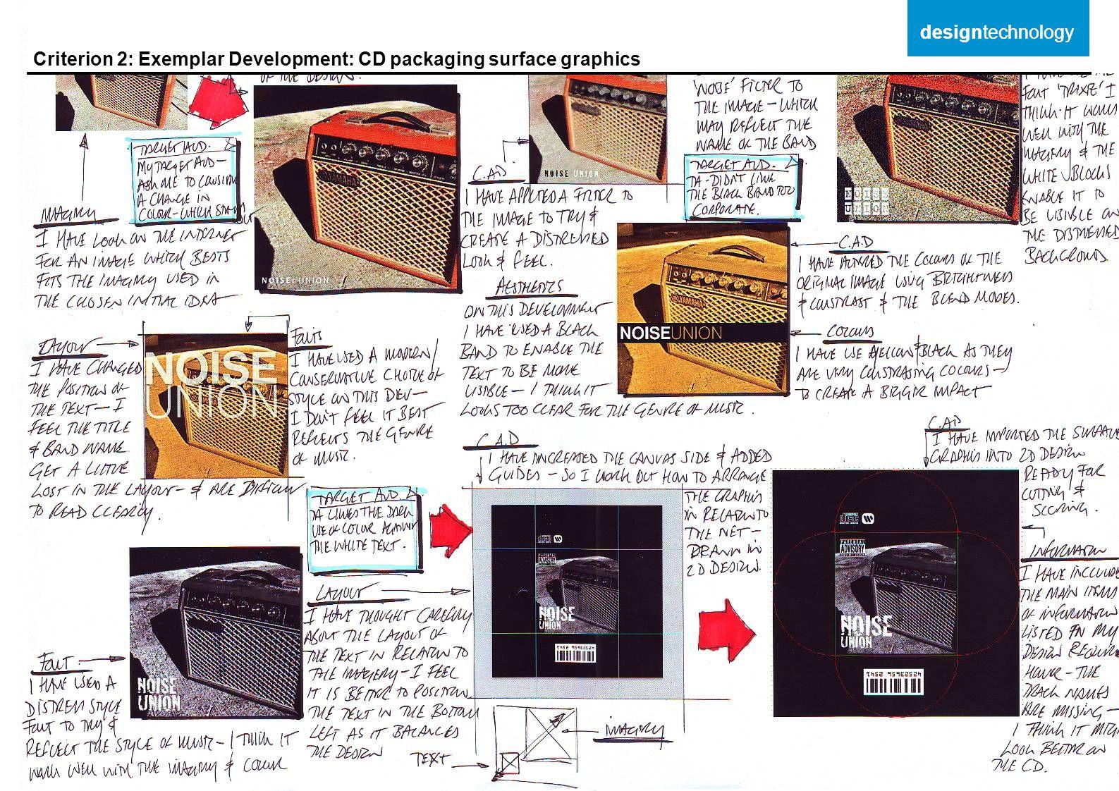 Criterion 2: Exemplar Development: CD packaging surface graphics designtechnology