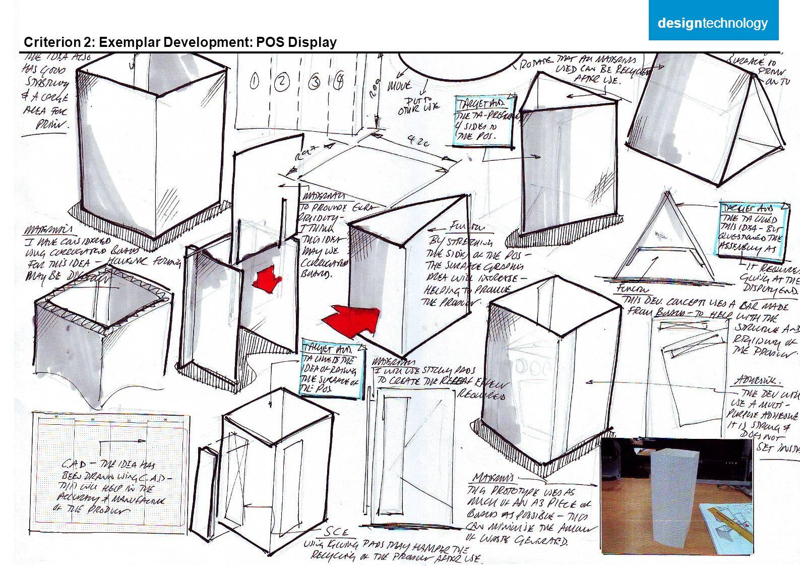 Criterion 2: Exemplar Development: POS Display designtechnology