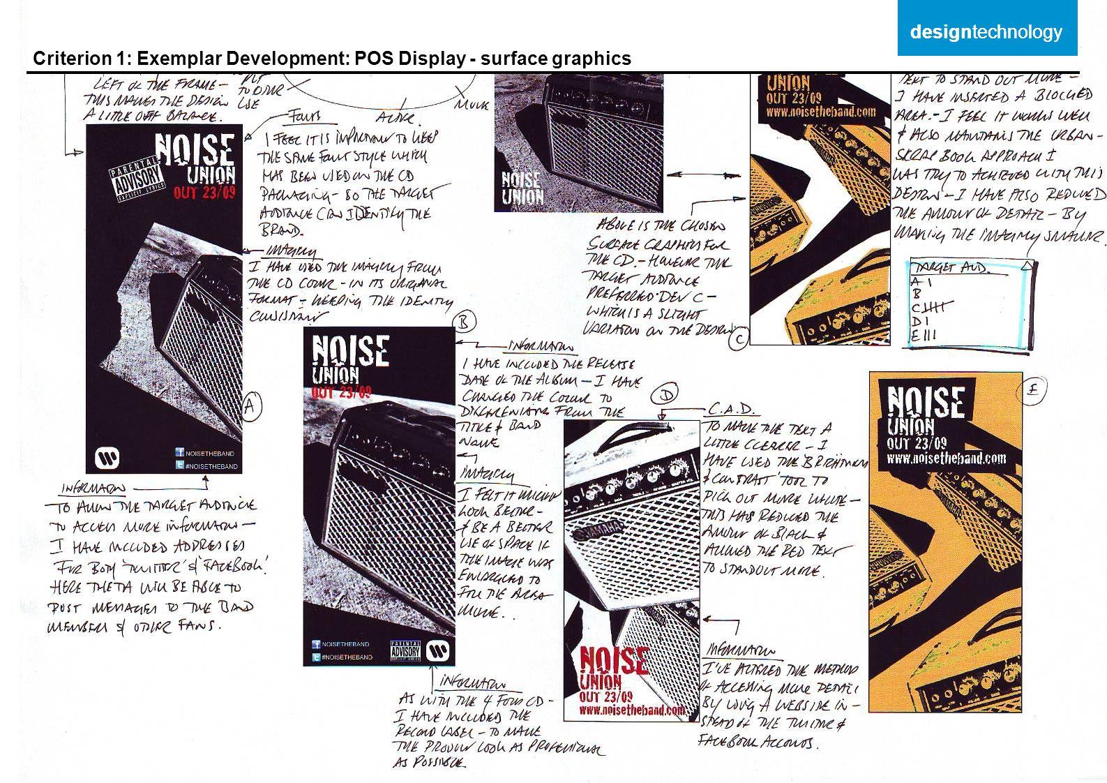 Criterion 1: Exemplar Development: POS Display - surface graphics designtechnology