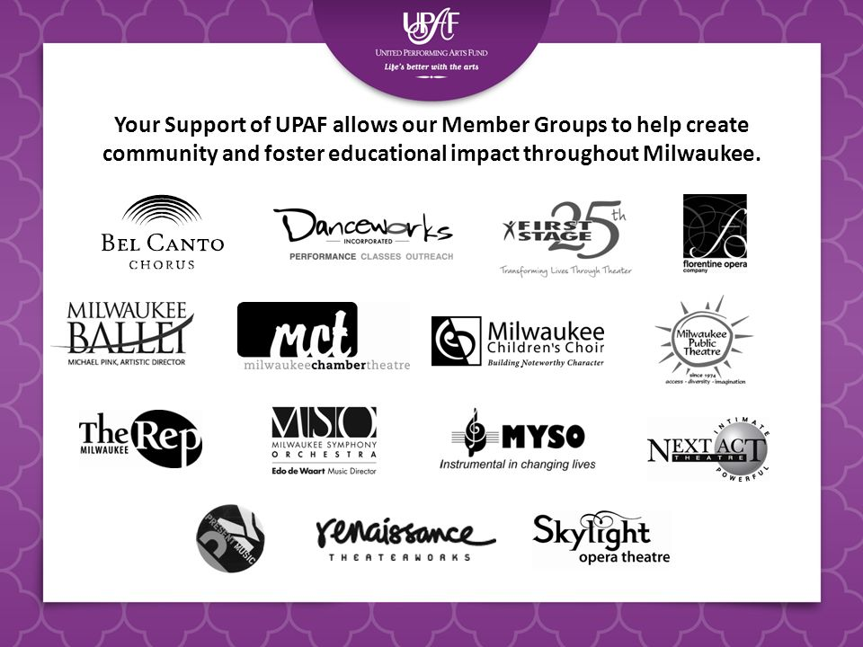 Your Support of UPAF allows our Member Groups to help create community and foster educational impact throughout Milwaukee.