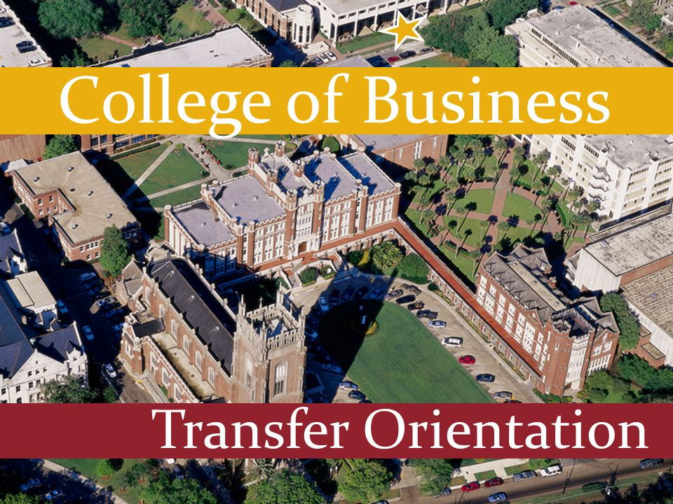 Transfer Orientation College of Business