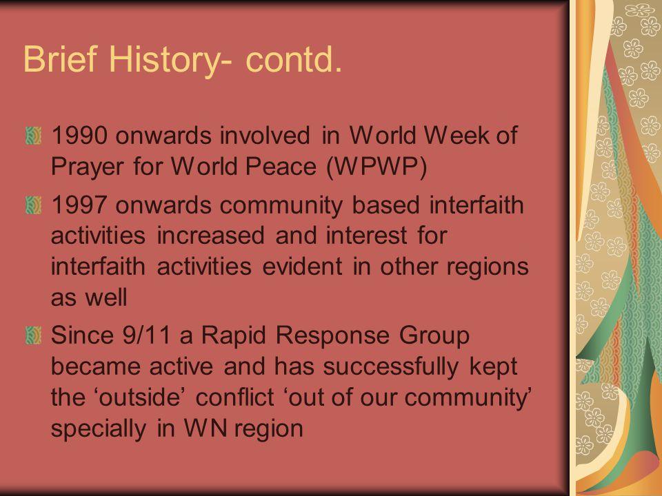 Brief History – contd.