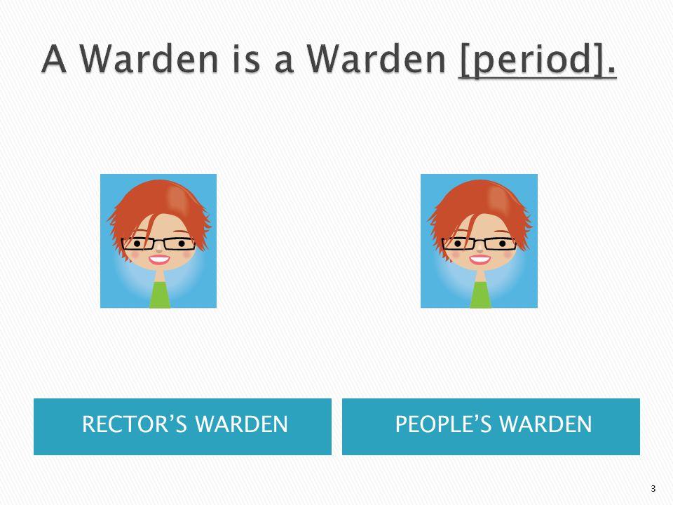 RECTOR'S WARDENPEOPLE'S WARDEN 3