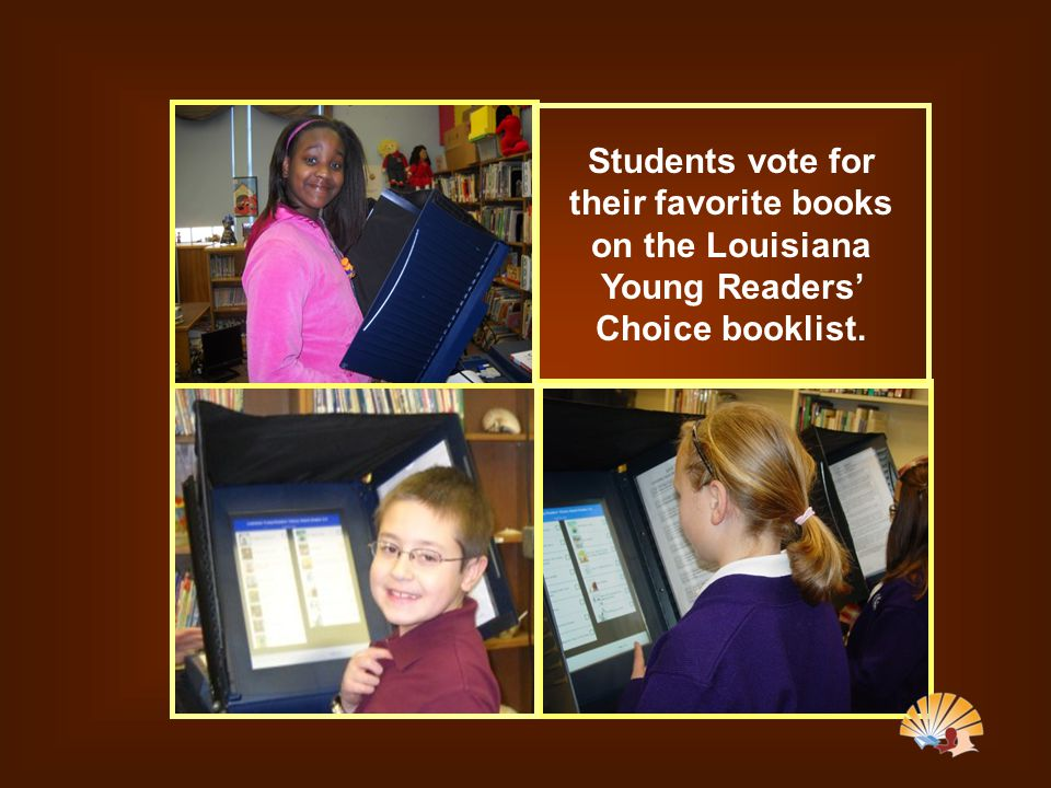 Students vote for their favorite books on the Louisiana Young Readers' Choice booklist.