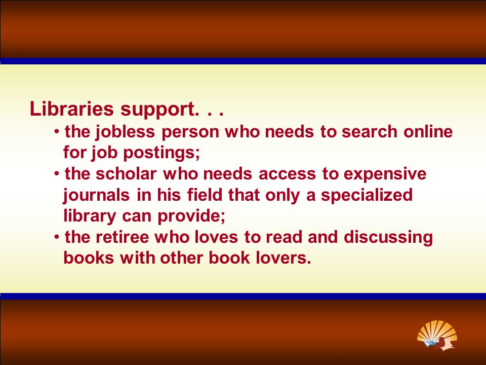 Libraries support...
