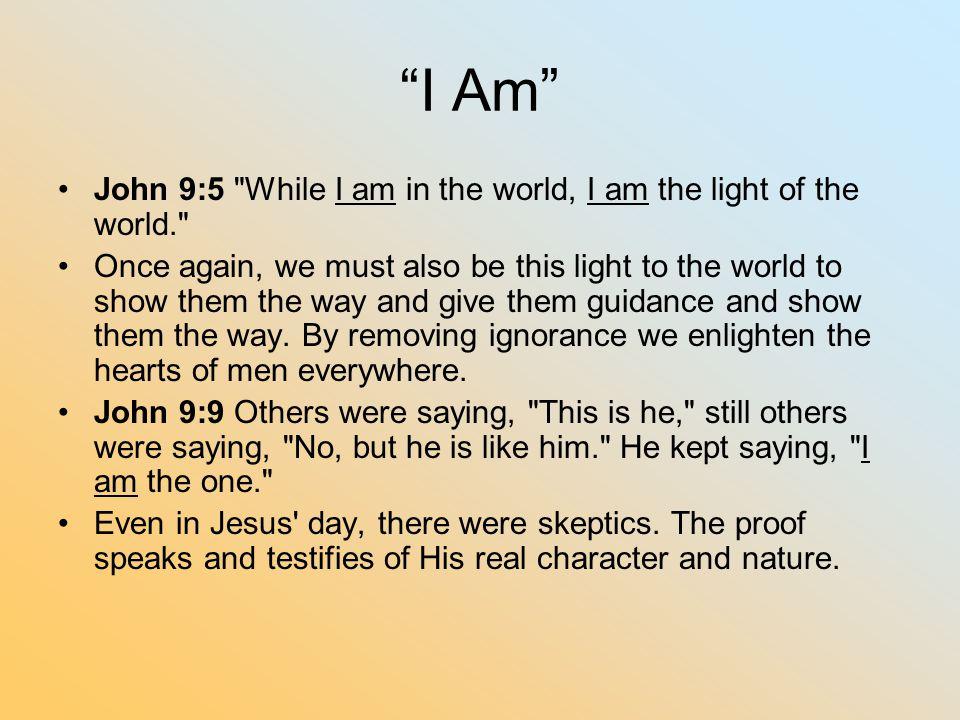 """""""I Am"""" John 9:5"""