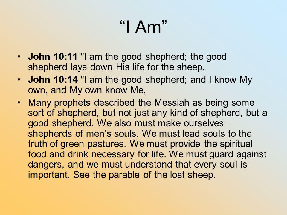 """""""I Am"""" John 10:11"""
