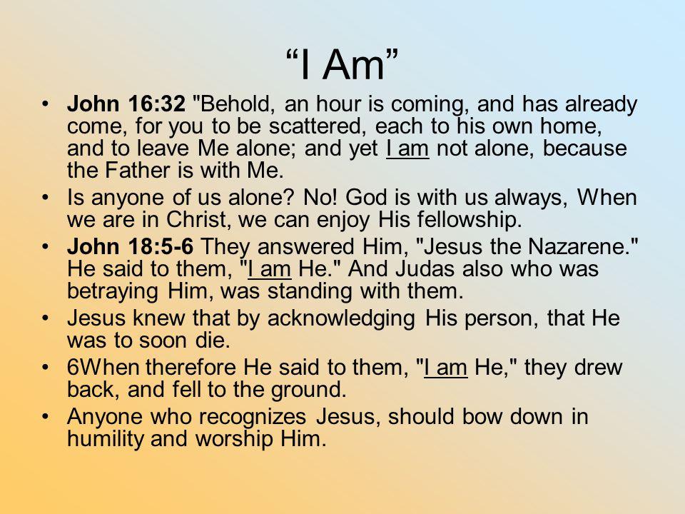 """""""I Am"""" John 16:32"""