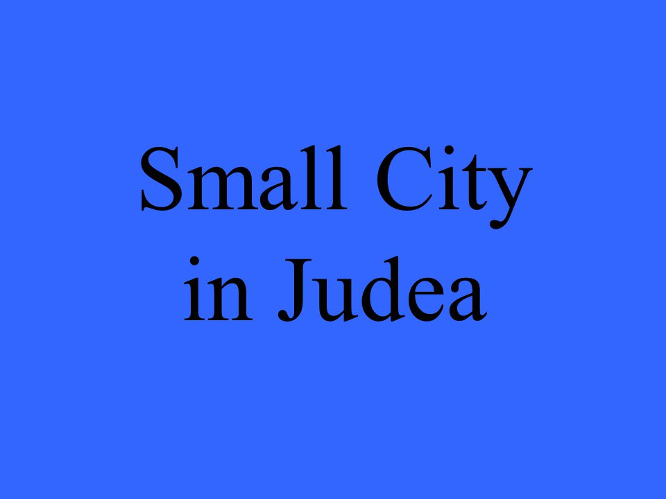 Small City in Judea