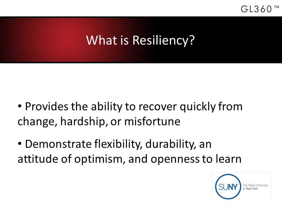 What is Resiliency.