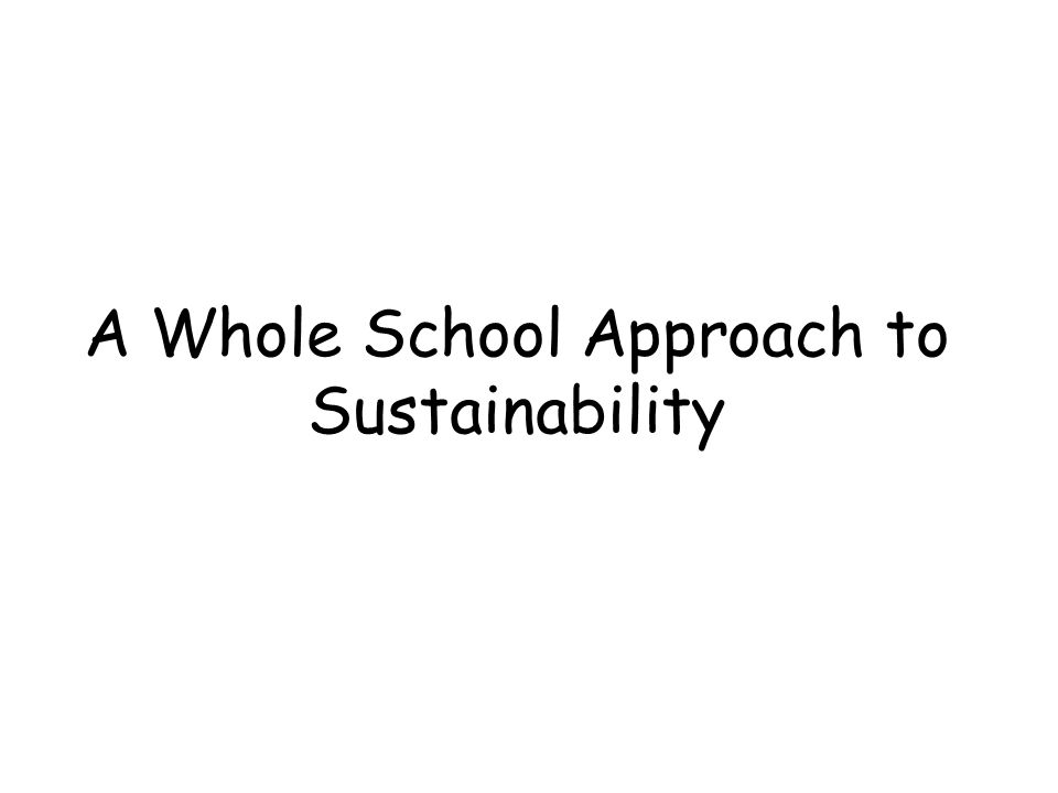 Overall Aim: Aim: To reinforce the concept of sustainability and to motivate the children to apply the principles to their own lives.