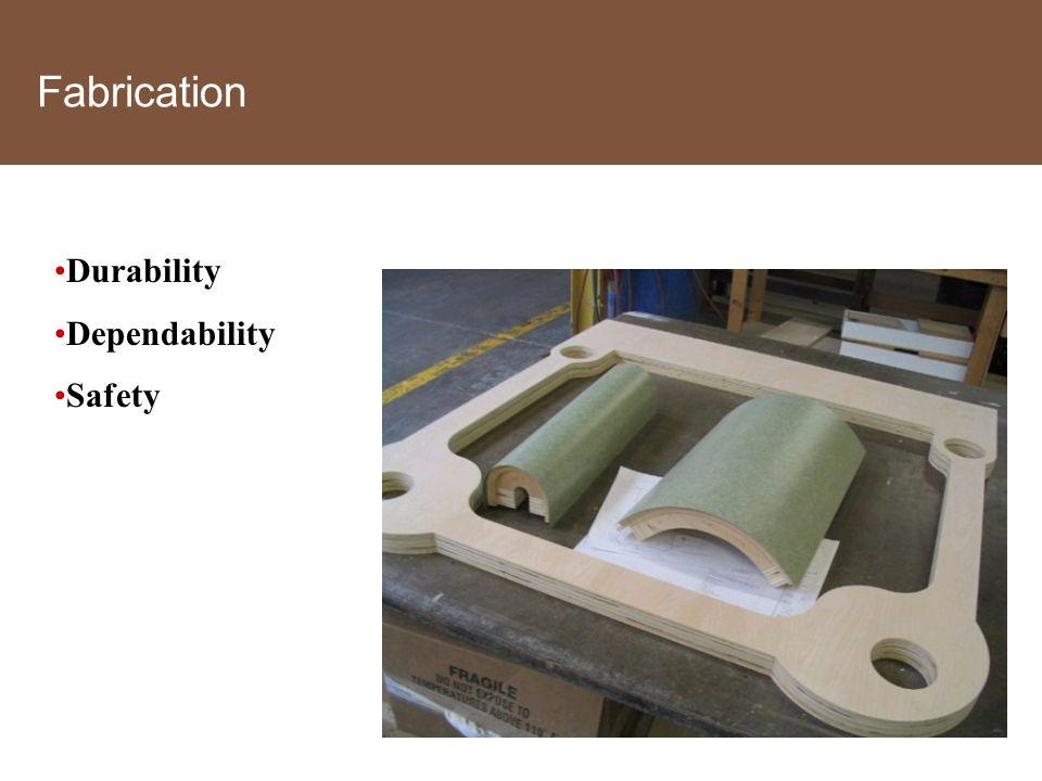 Fabrication Durability Dependability Safety