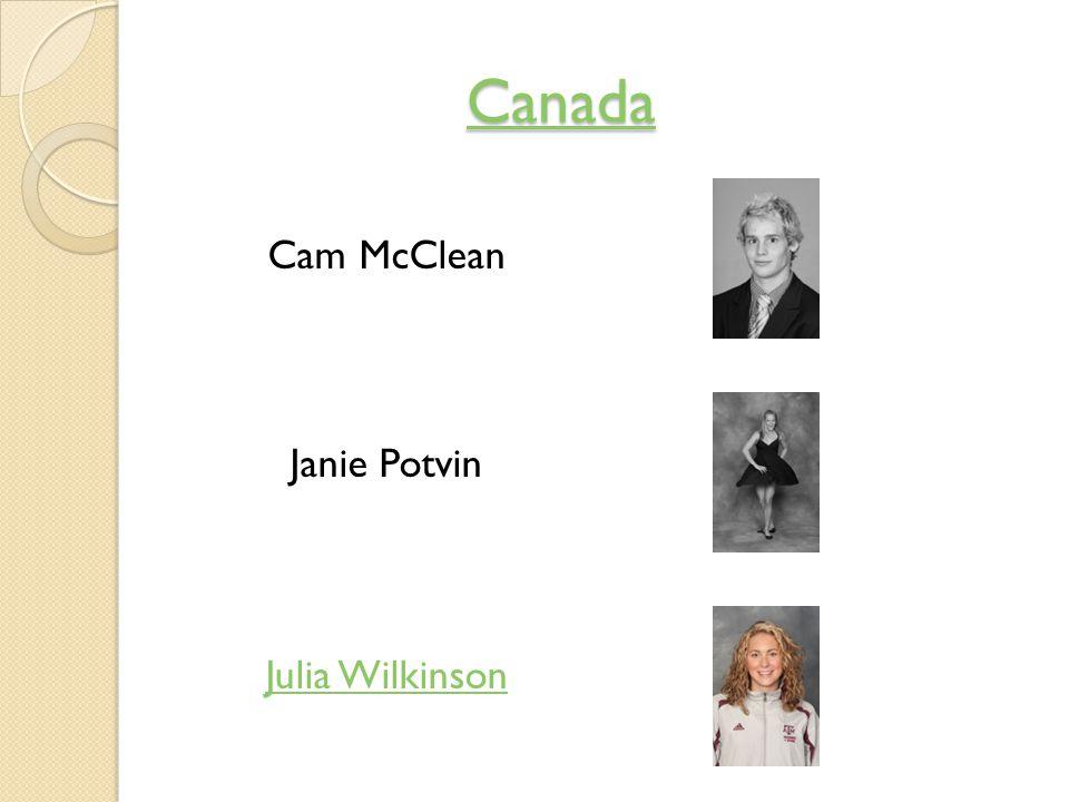 Canada Cam McClean Janie Potvin Julia Wilkinson