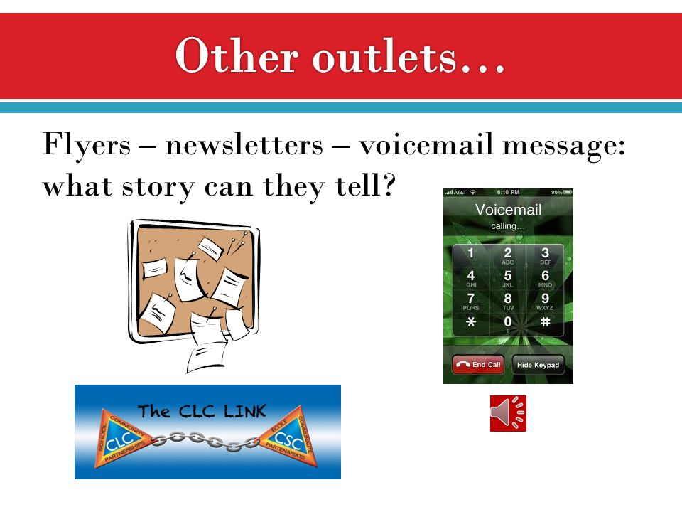 Flyers – newsletters – voicemail message: what story can they tell?