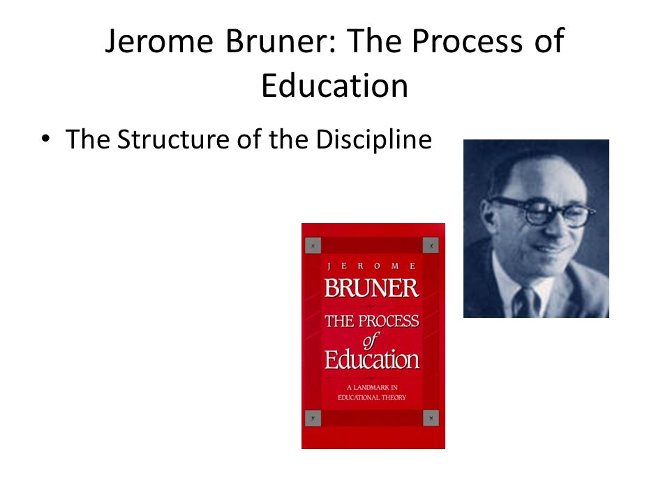 Jerome Bruner: The Process of Education The Structure of the Discipline