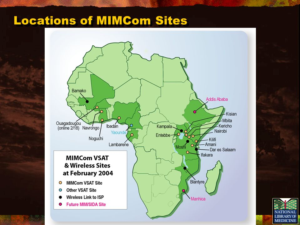 Locations of MIMCom Sites