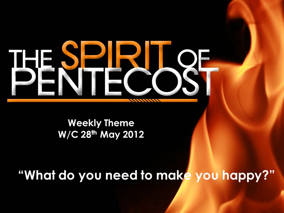 Weekly Theme W/C 28 th May 2012 What do you need to make you happy