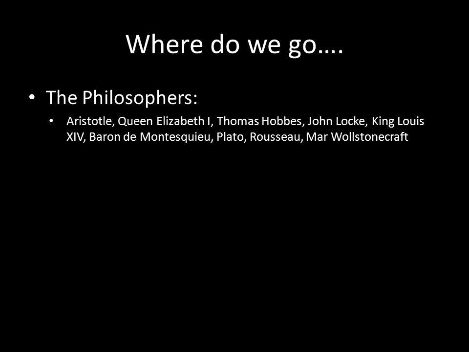 Where do we go….