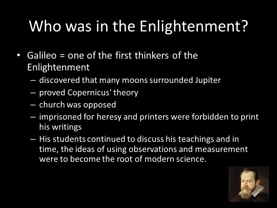 What is the Enlightenment.