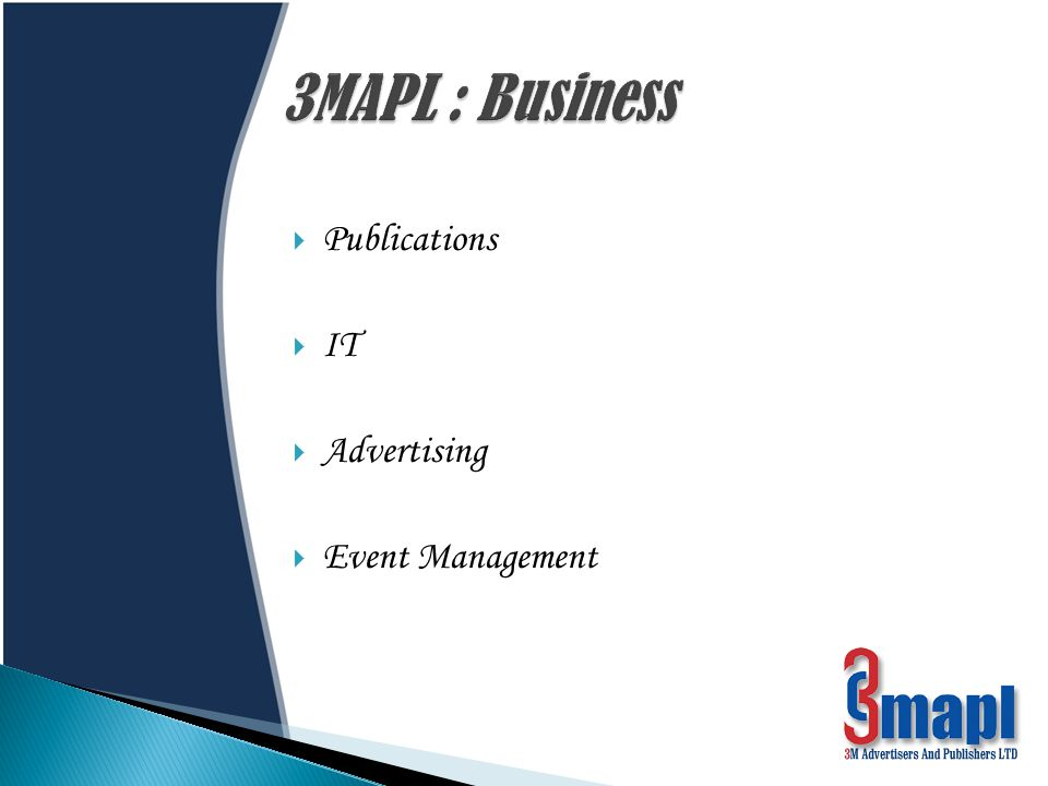 After having emerged as a renowned name in the publication industry, 3MAPL has moved a step further with event management.