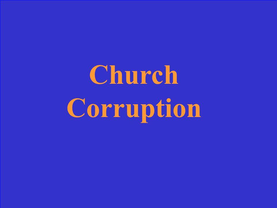 Church Corruption