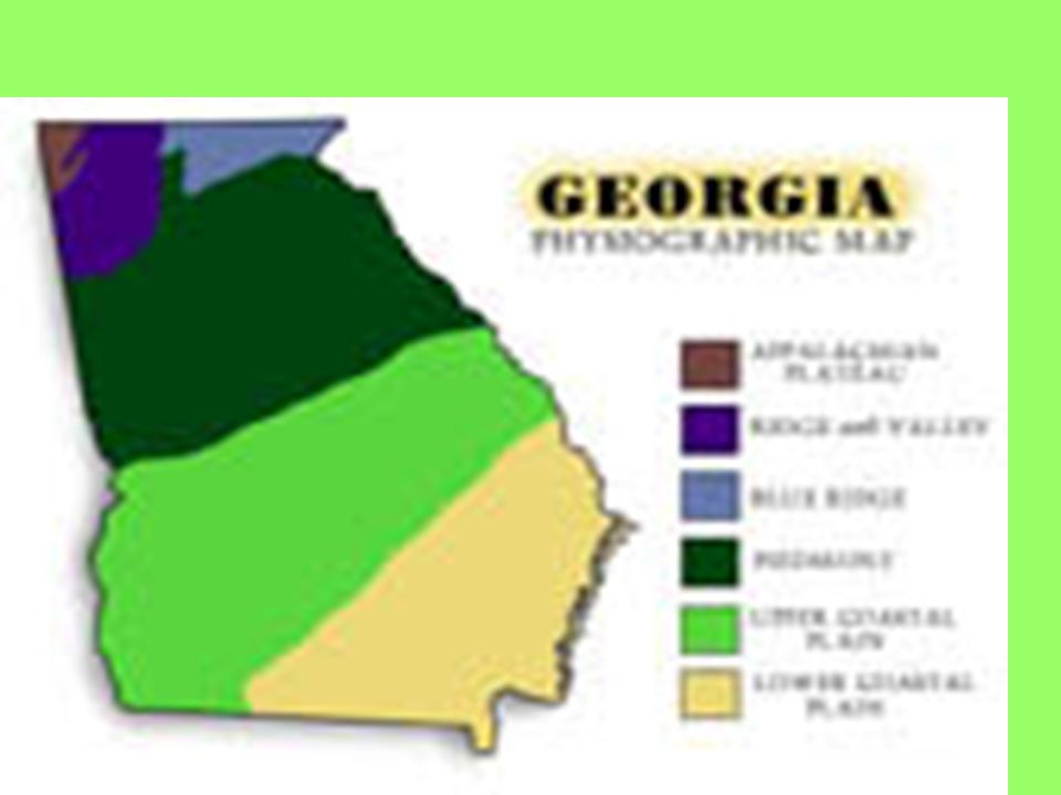 Fall Line Separates Piedmont and Coastal Region 3 cities have grown up along the fall line: Augusta, Macon, Columbus