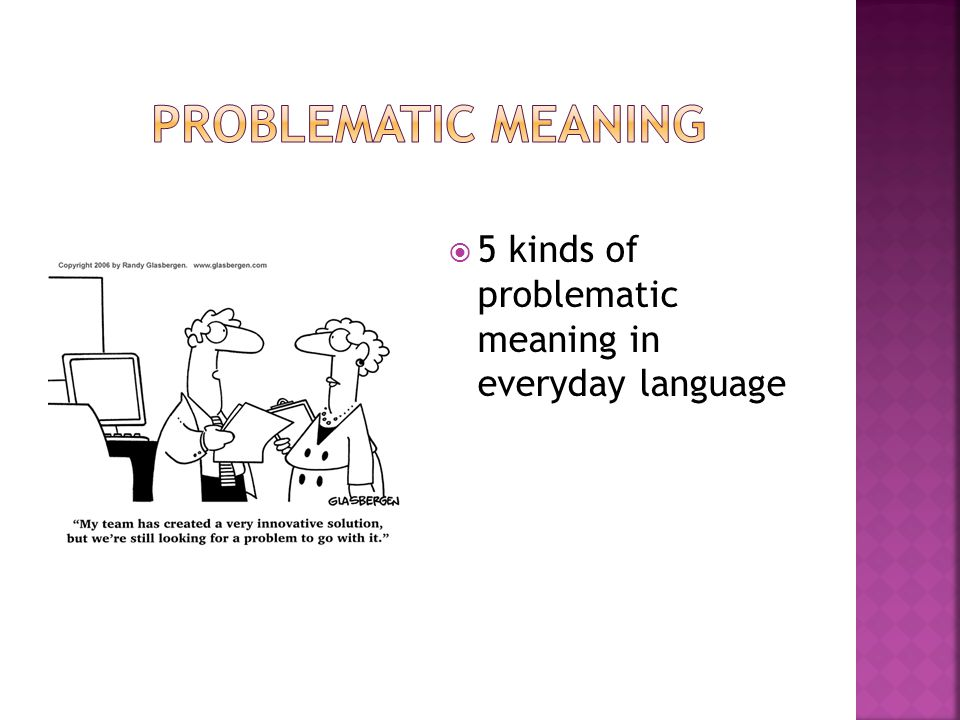  5 kinds of problematic meaning in everyday language